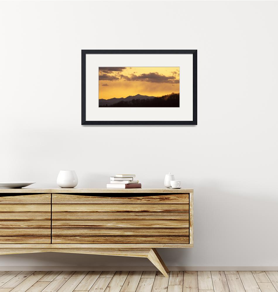 """""""Mountain sunset""""  (2012) by IanMiddletonphotography"""