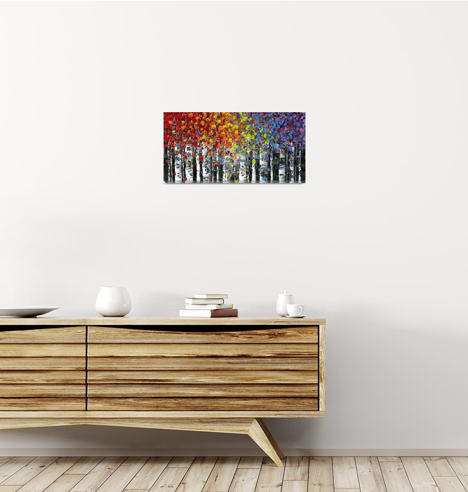 """Modern Landscape Abstract Birch Trees""  (2014) by modernhouseart"