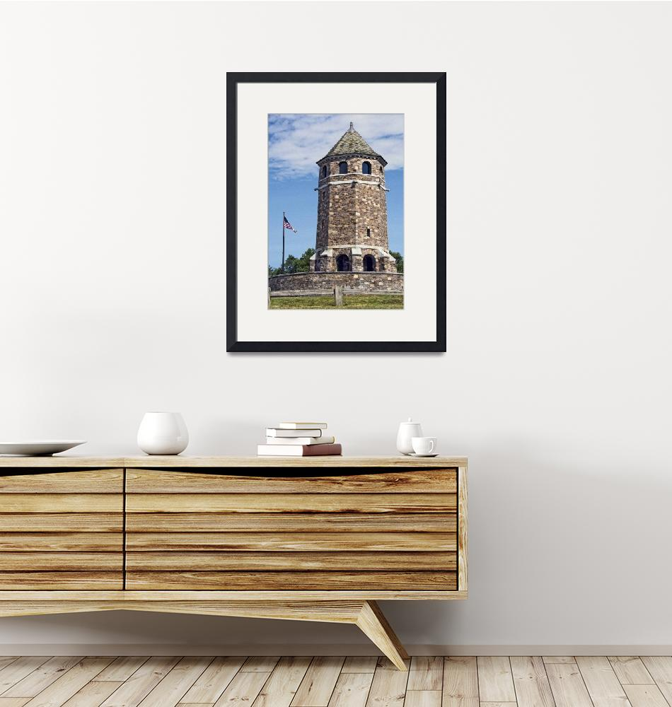 """War Memorial Tower Vernon Connecticut""  (2015) by WilshireImages"