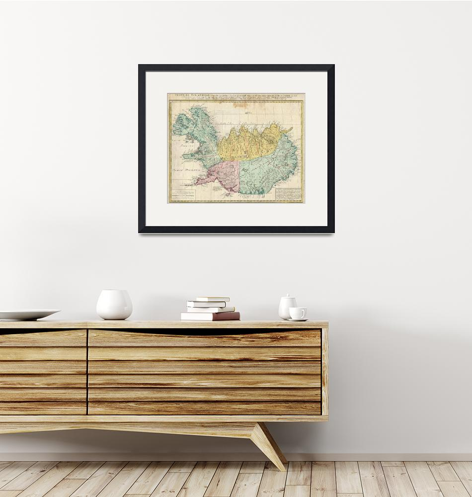 """""""Vintage Map of Iceland (1761)""""  by Alleycatshirts"""