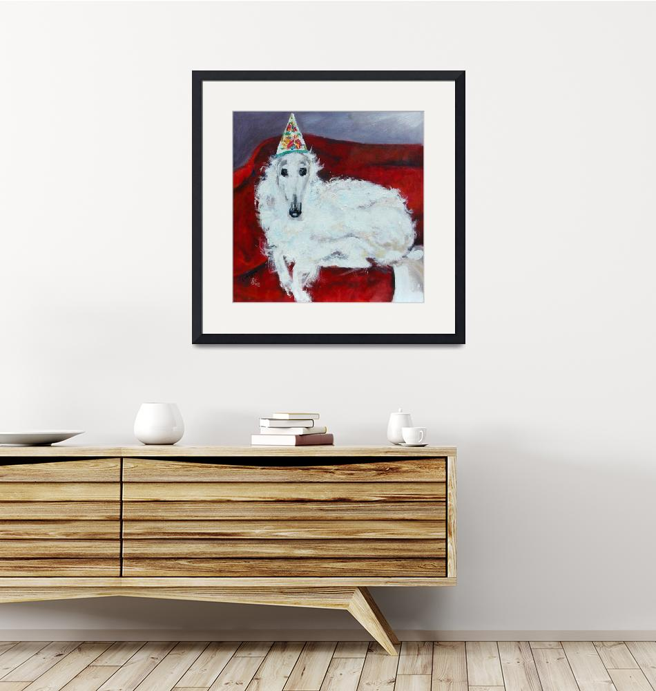 """""""Borzoi Tina  Original painting by Ginette Callaway""""  (2003) by GinetteCallaway"""