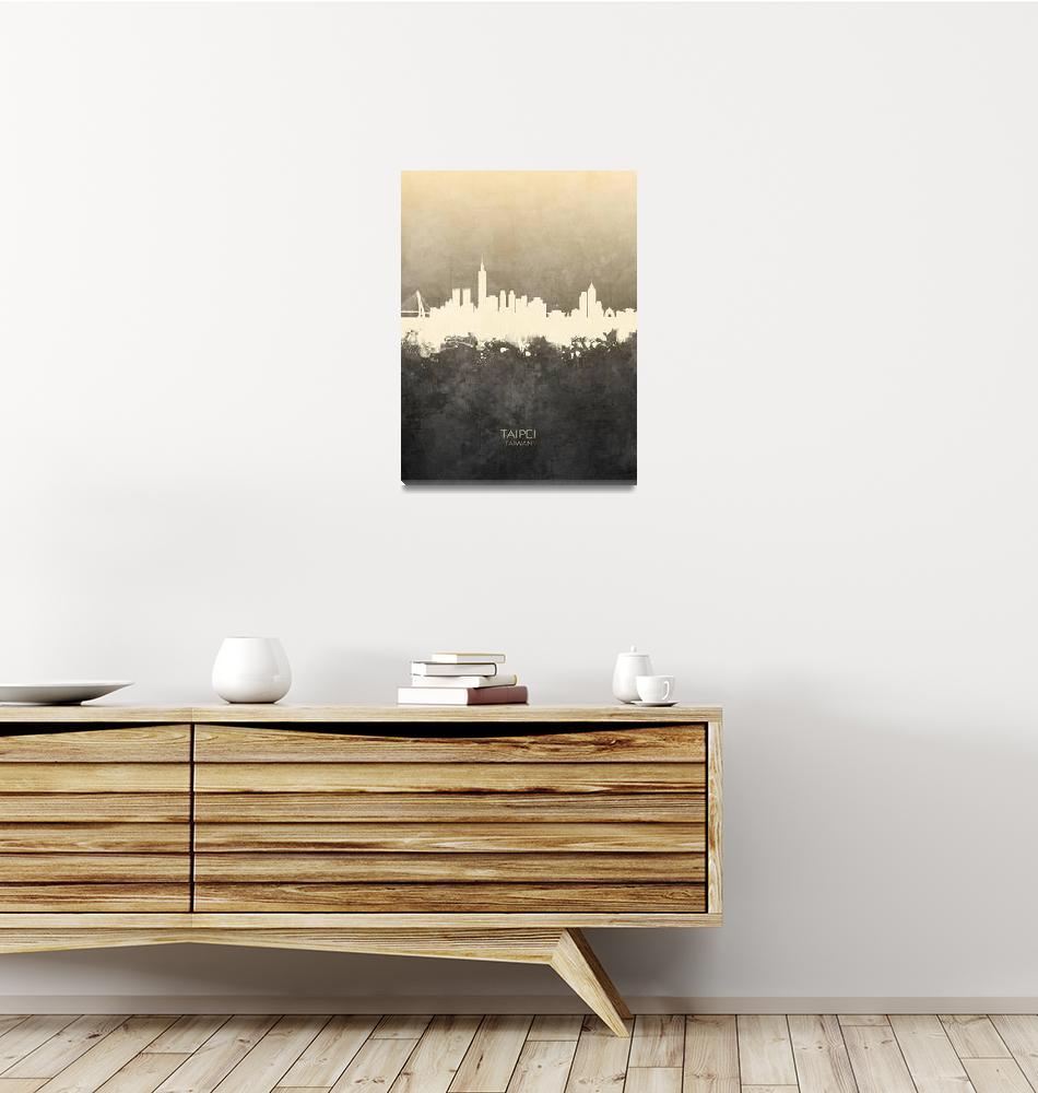 """""""Taipei Taiwan Skyline""""  (2019) by ModernArtPrints"""