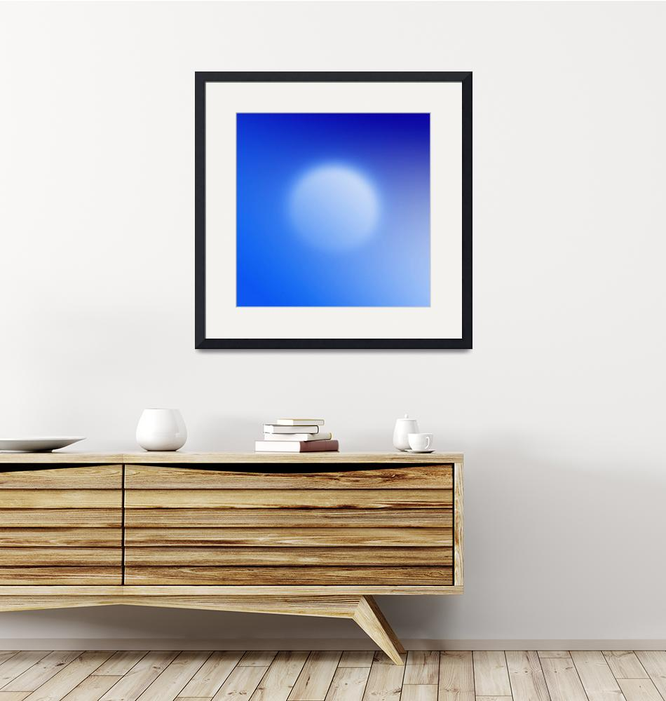 """""""Blue ball abstract""""  by Morganhowarth"""