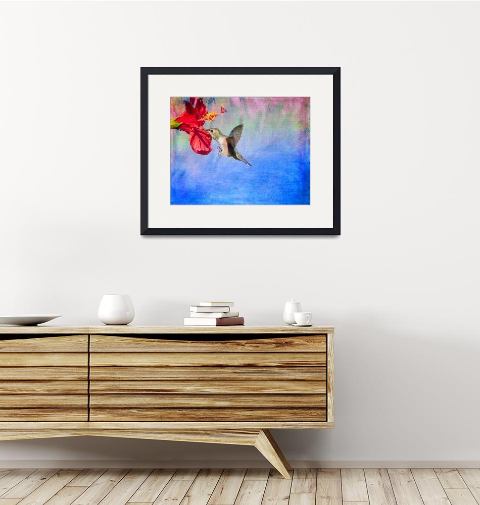 """""""Tropical Passion Blue""""  (2015) by LynnBauer"""
