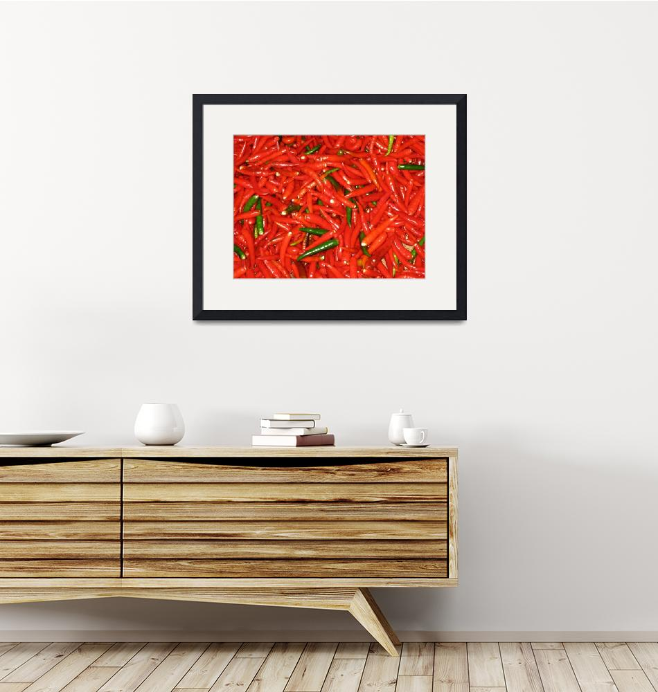 """""""Red Chilies with green chilies""""  by OneMansPerspectives"""
