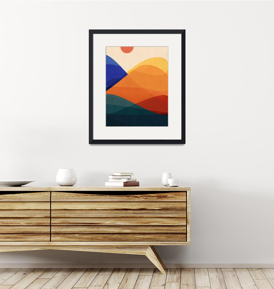 """""""Meditative Mountains""""  (2018) by moderntropical"""