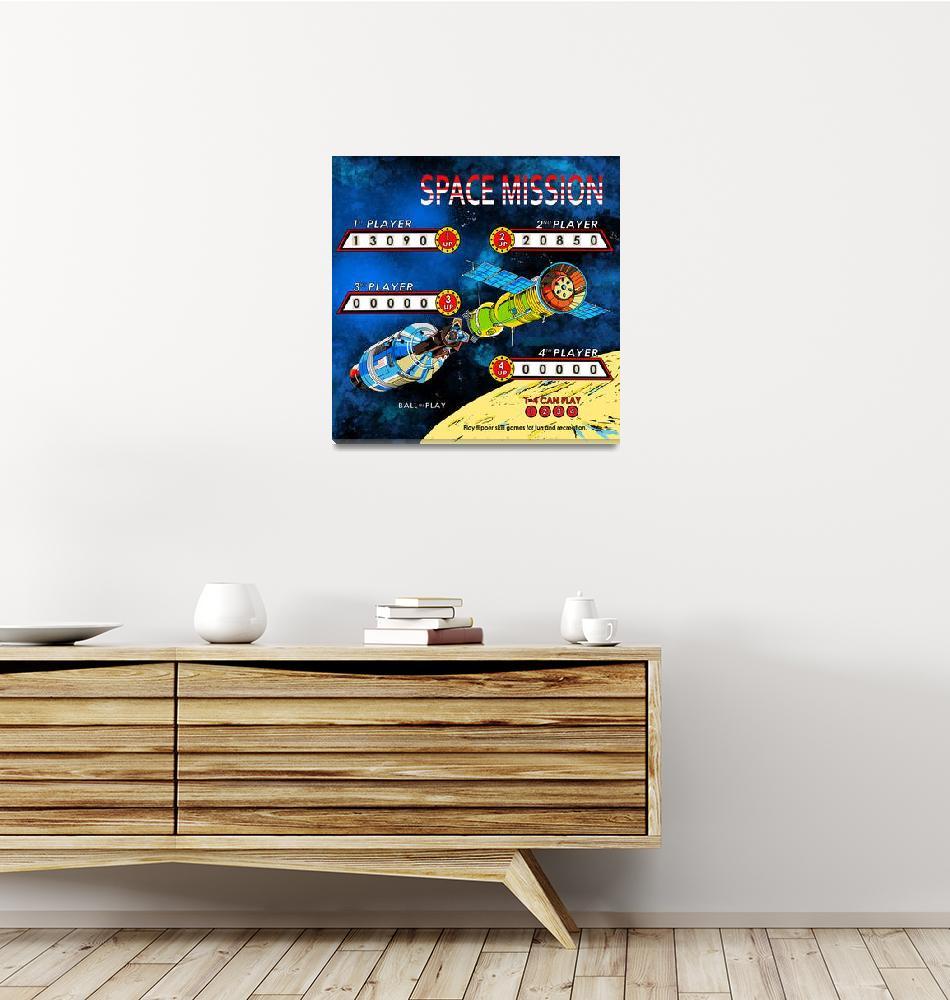 """Space Mission Retro Pinball""  by mark-rogan"