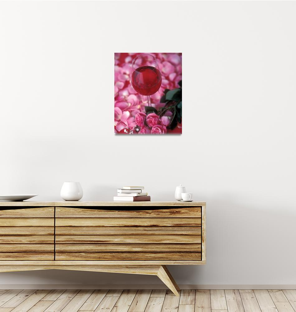 """""""Rosé and Roses"""" by winecountrycreations"""