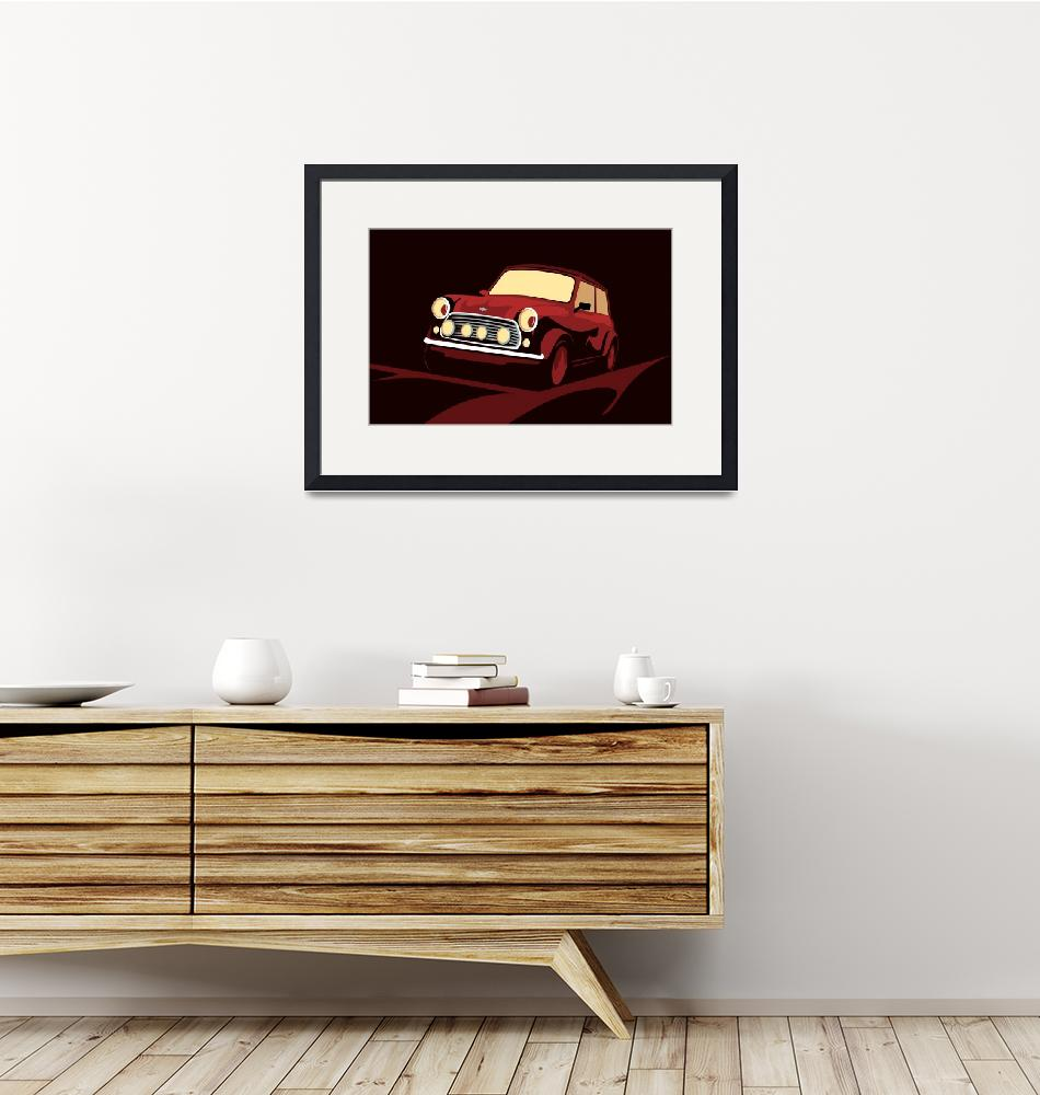"""Classic Mini Cooper in Red""  (2010) by ModernArtPrints"