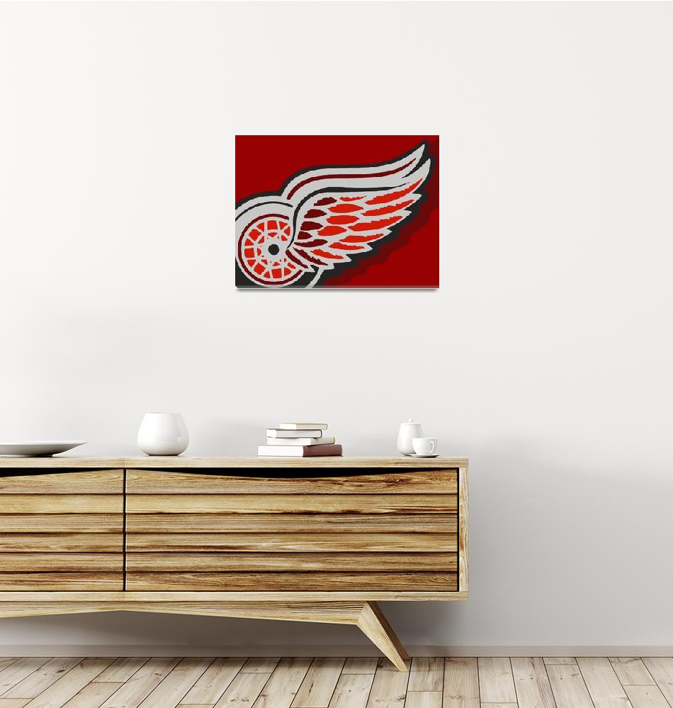 """Detroit Red Wings""  (2018) by RubinoFineArt"