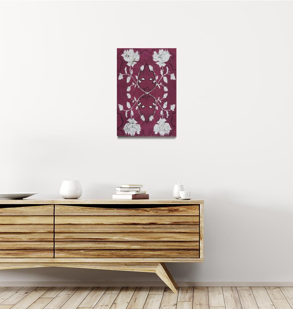 """Burgundy Batik""  (2011) by RePeteyPrints"