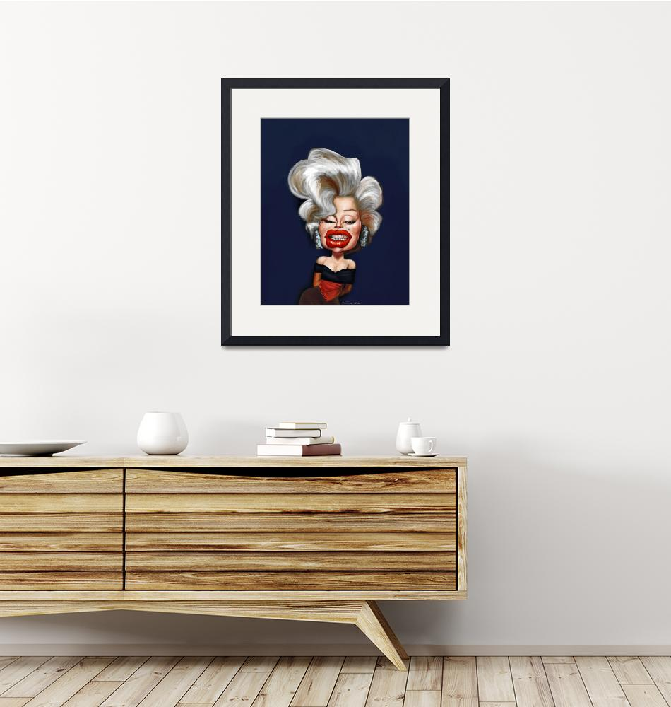 """Marilyn-Monroe-caricature""  by nelson"