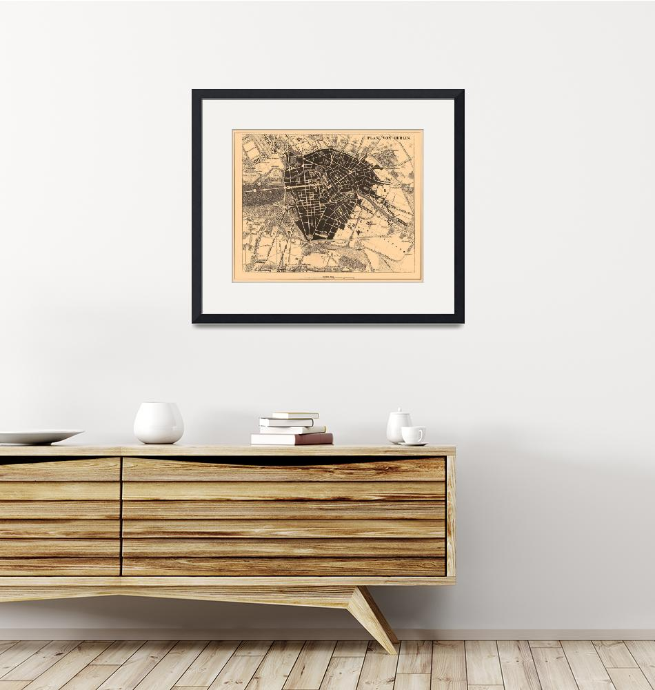 """Vintage Map of Berlin Germany (1907)""  by Alleycatshirts"
