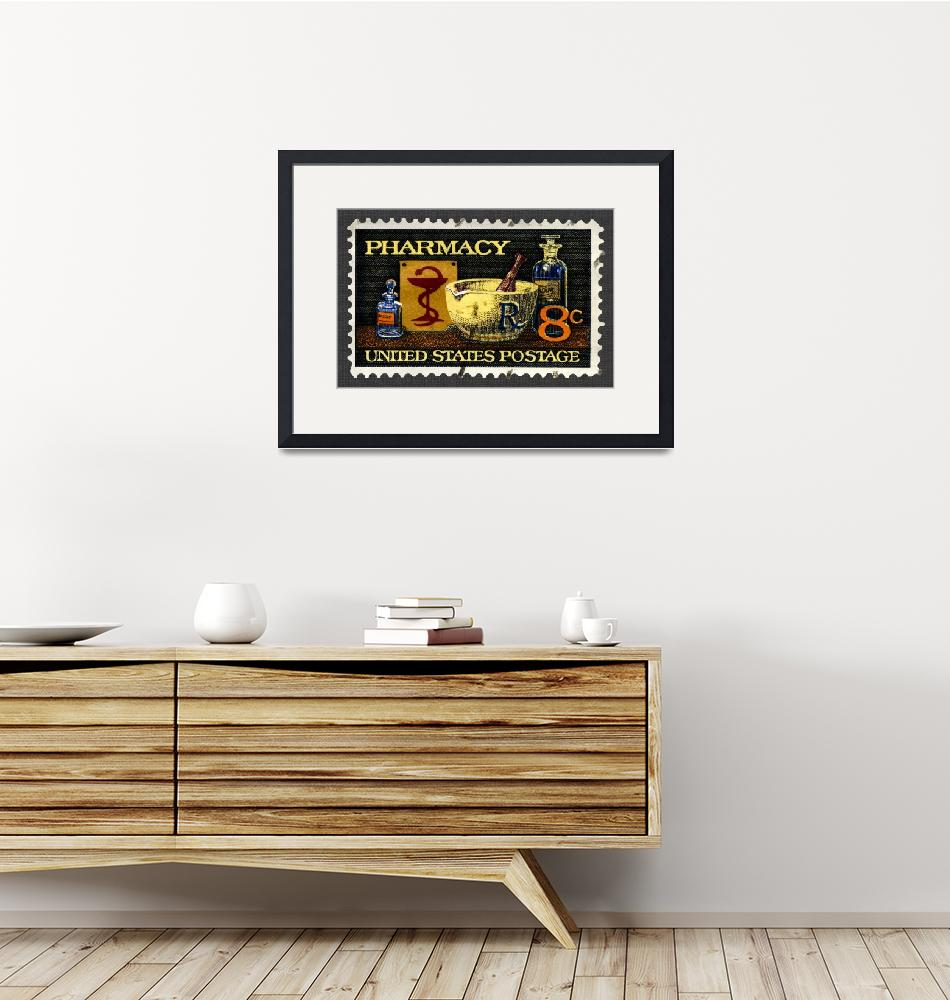 """""""Pharmacy Stamp with Bowl of Hygeia""""  (2008) by WilshireImages"""