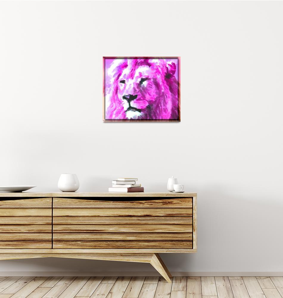 """Magenta Lion""  (2015) by KittyMisty"
