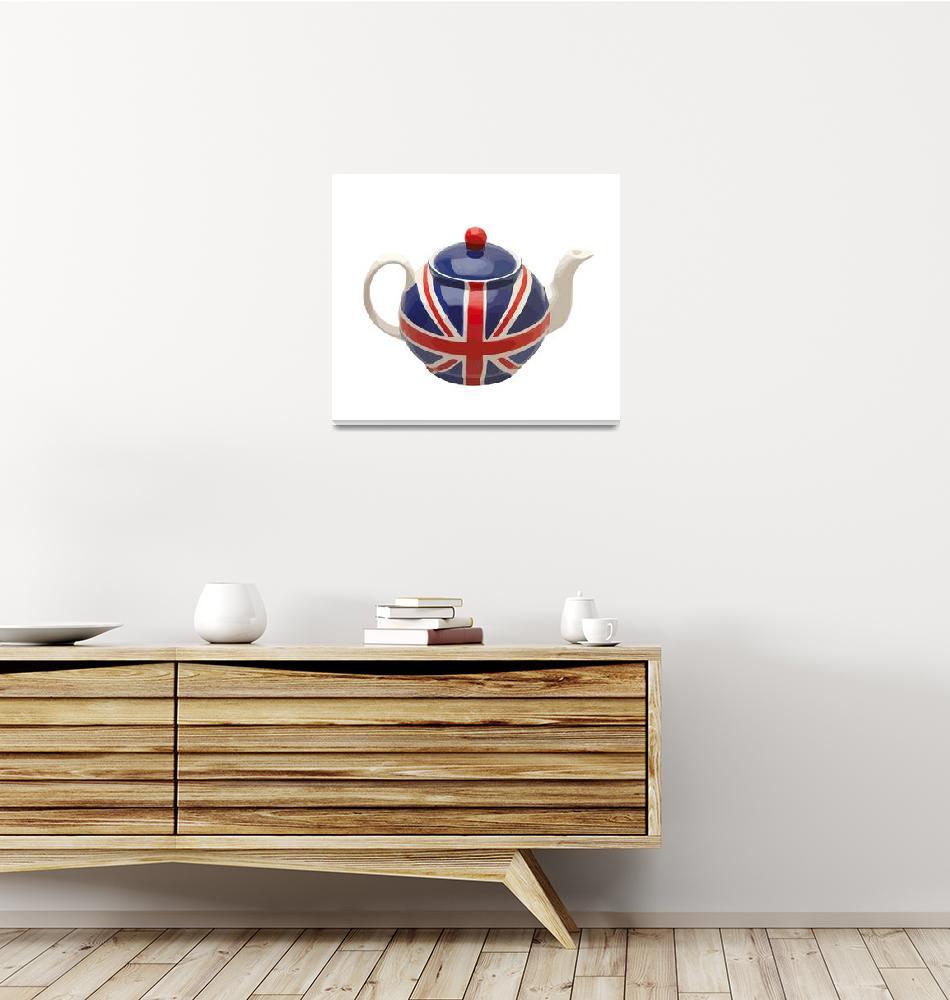 """UK Tea Time""  (2010) by whitewallgallery"