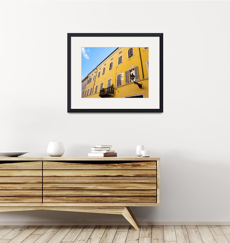 """""""Yellow Building of Parma""""  (2015) by raetucker"""
