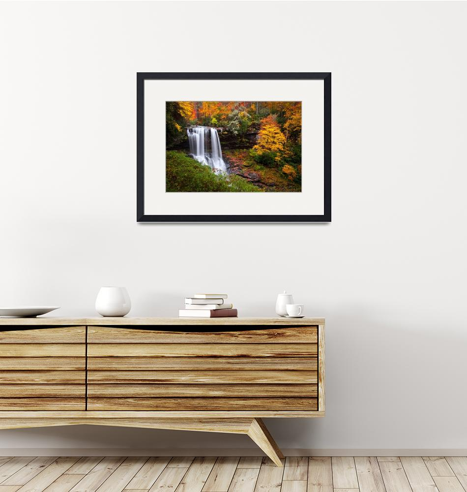 """Autumn at Dry Falls - Highlands NC Waterfalls""  (2011) by DAPhoto"