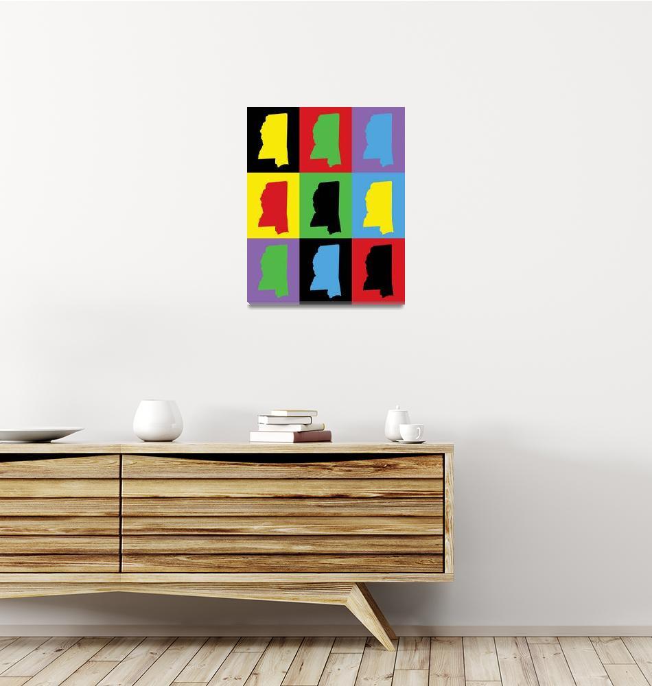 """Mississippi Pop Art Pattern US State""  (2021) by ValeriesGallery"
