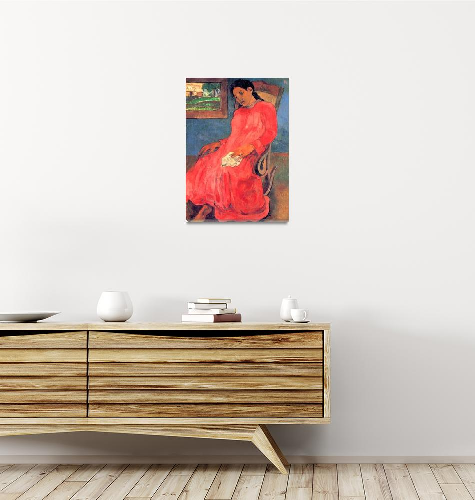 """""""The Woman in the Red Dress""""  by ArtLoversOnline"""
