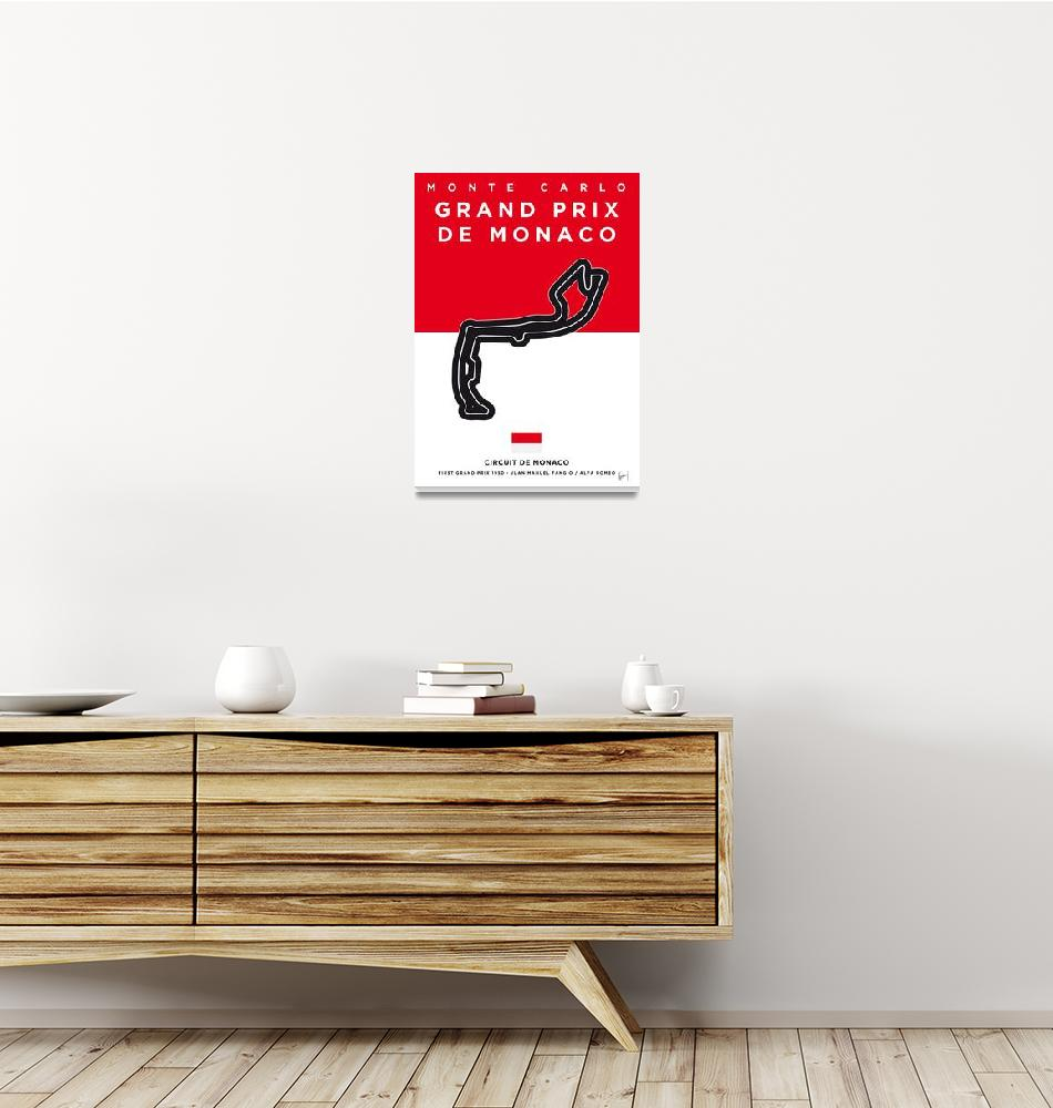 """My F1 MONACO Race Track Minimal Poster""  by Chungkong"