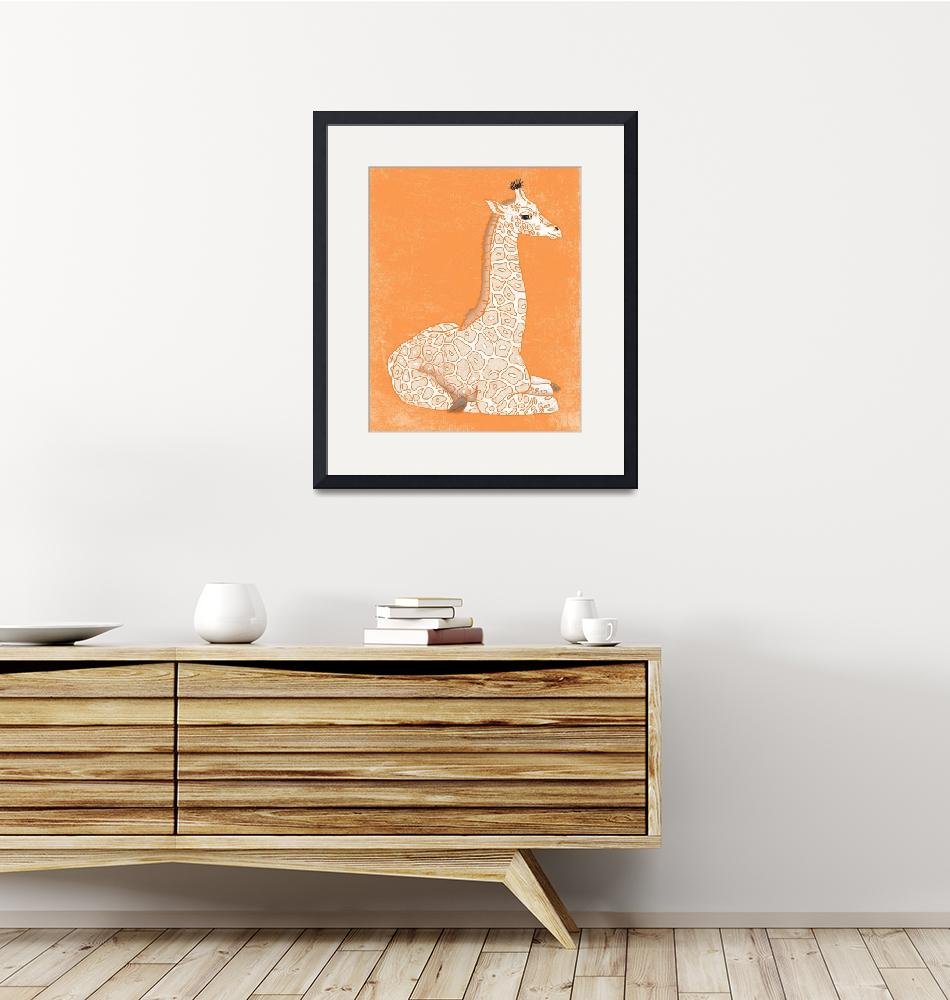 """Baby Giraffe in Orange""  (2014) by Littlepig"