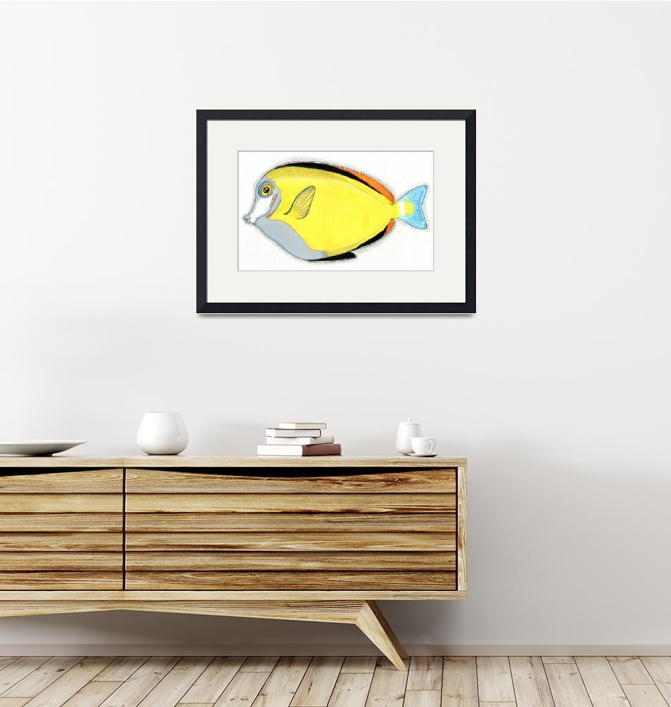 """""""Japanese Surgeonfish""""  (2015) by FeamiHuX"""