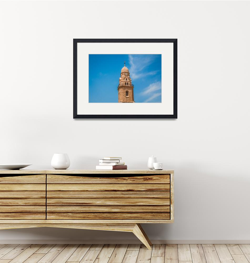 """""""The clock tower of the Abbey of the Dormition buil""""  by maor-winetrob"""