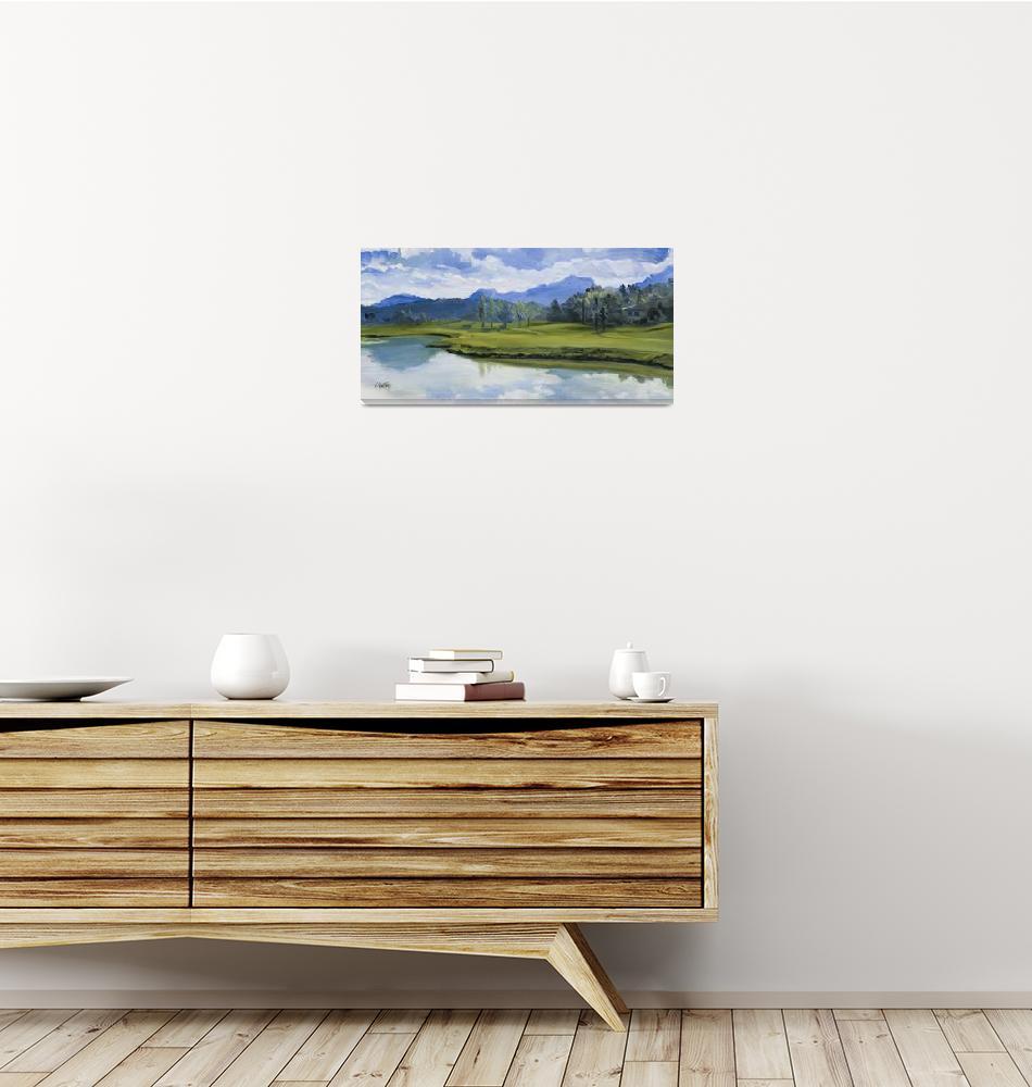 """Keating Golf French Riviera Giclee Print""  (2002) by KeatingArt"