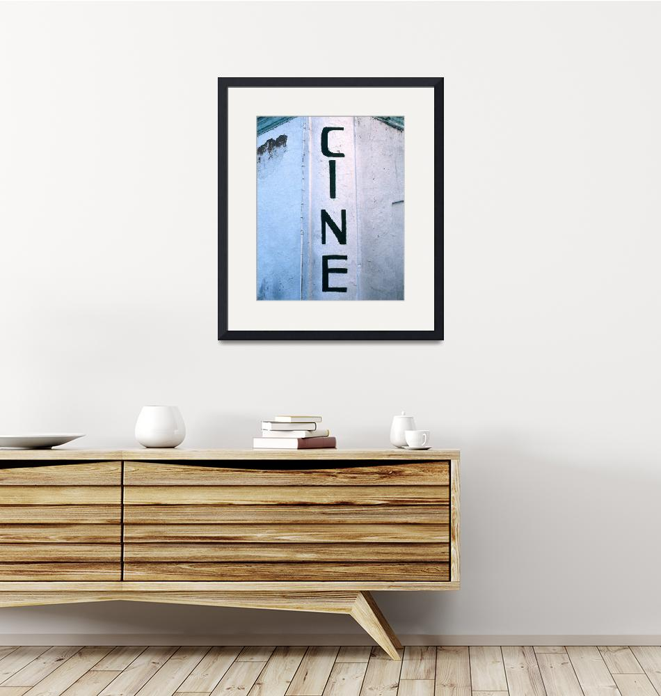 """""""Cinema Painted Sign""""  by McallenPhotography"""