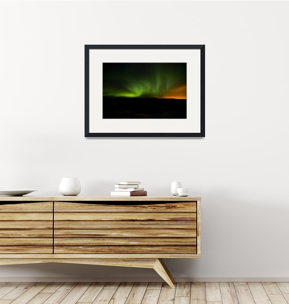 """Aurora in Reykjanes Peninsula #2""  (2009) by falconcreations"
