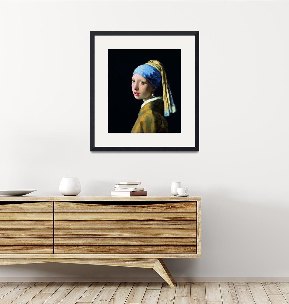 """Jan Vermeer Girl With A Pearl Earring""  by artpictures"