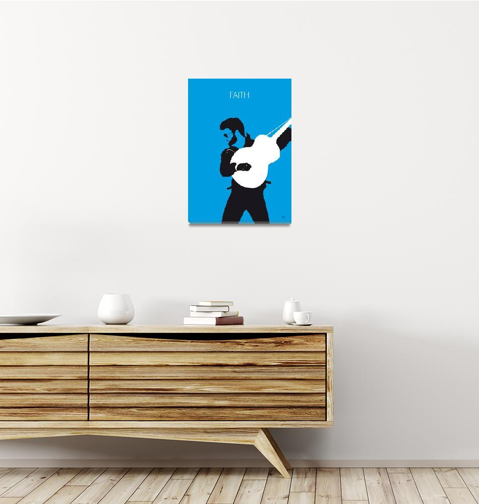 """""""No089 MY GEORGE MICHAEL Minimal Music poster""""  by Chungkong"""