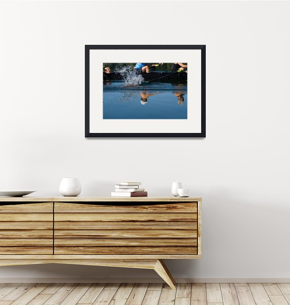"""""""Reflections on Rowing""""  (2008) by laurazphotography"""