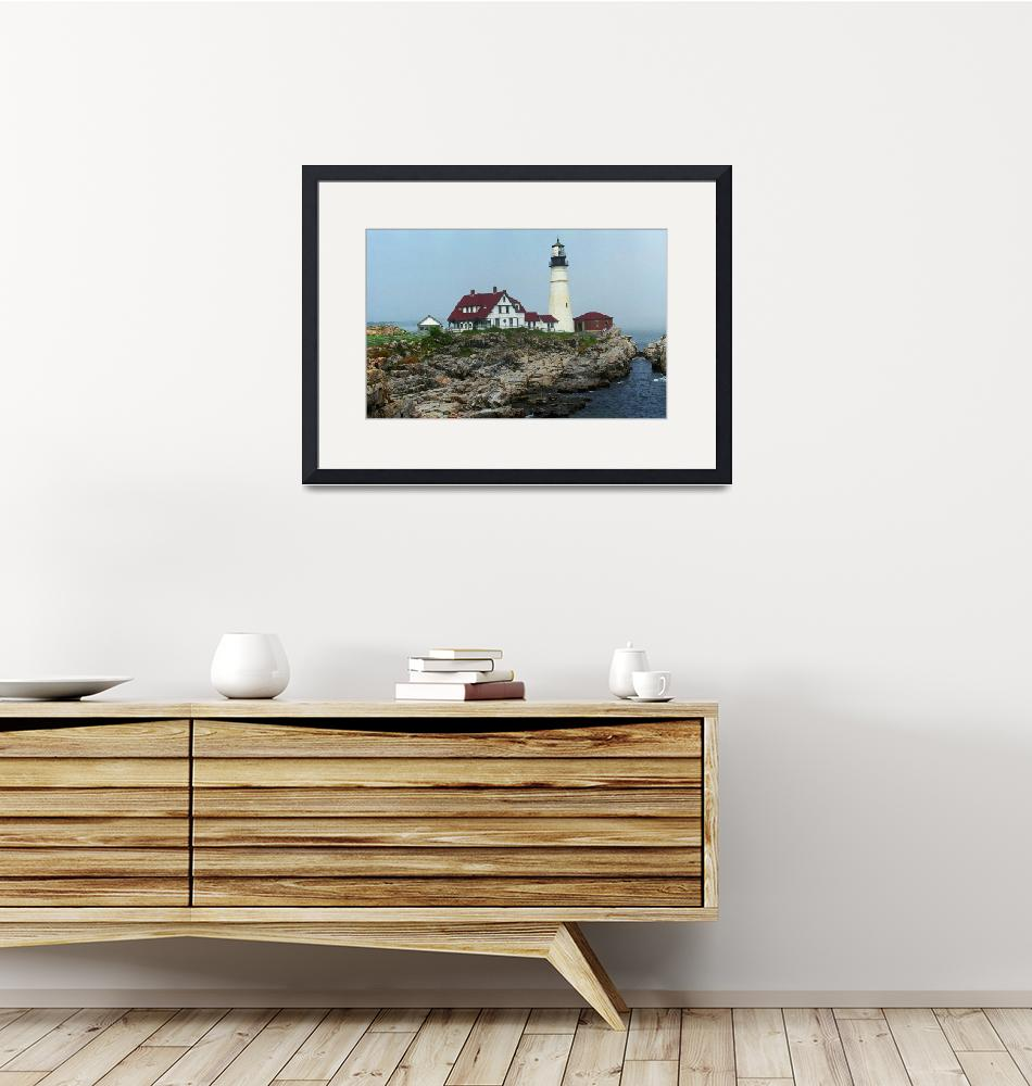 """Lighthouse - Portland Head, Maine 2004""  (2004) by Ffooter"