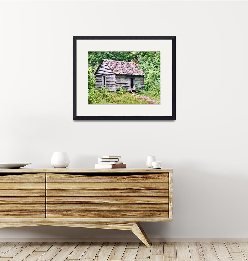 """""""Small Cabin on Roaring Fork Motor Trail""""  (1994) by brucet"""