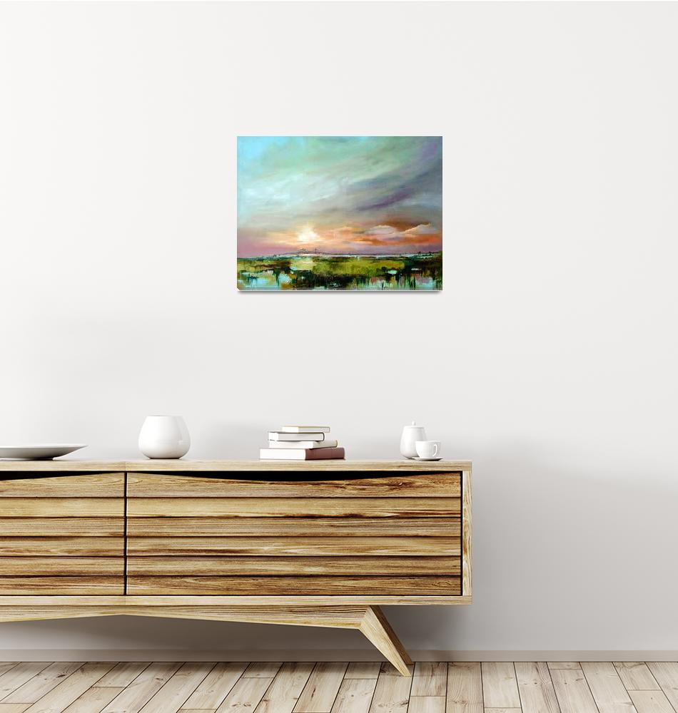 """Salt Marsh Sunset Original Oil Painting by Ginette""  (2004) by GinetteCallaway"