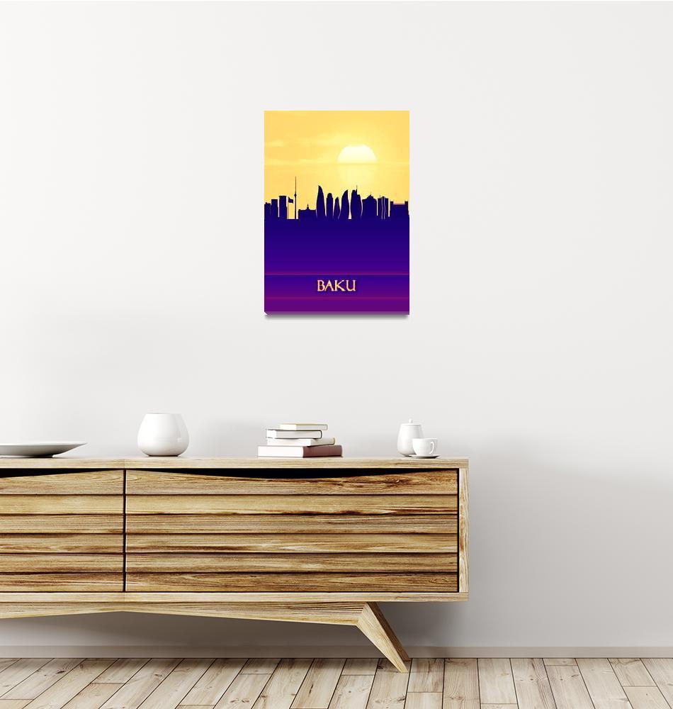 """Baku City Skyline""  by Towseef"