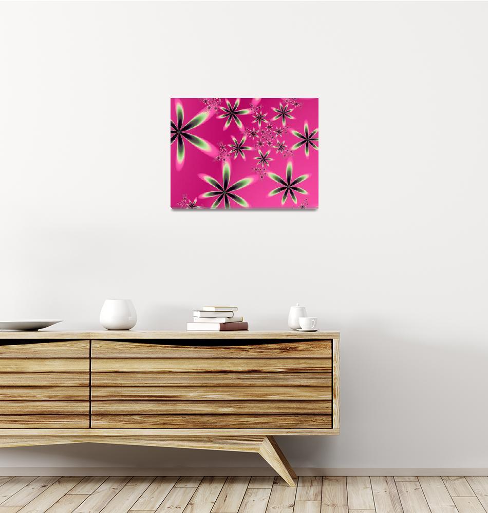 """""""flowersonpink""""  by fractalartvicky"""