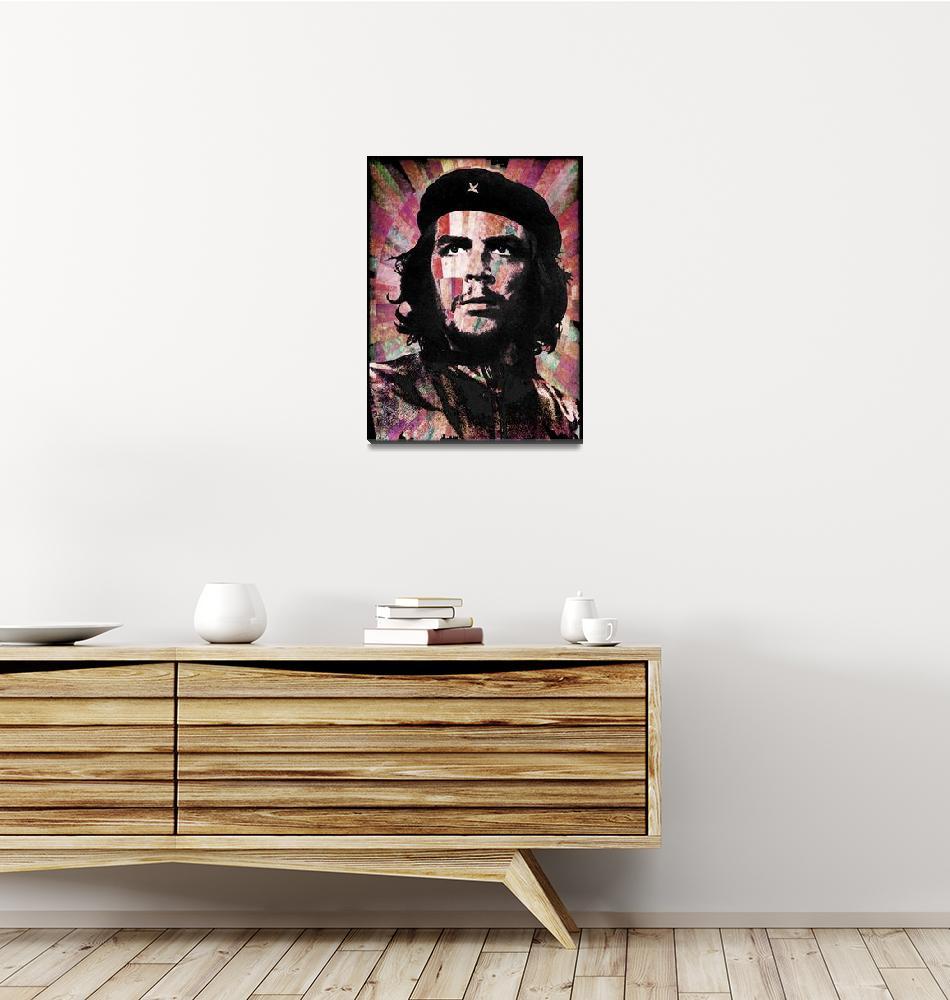 """Che Guevara Revolution Red""  by RubinoFineArt"