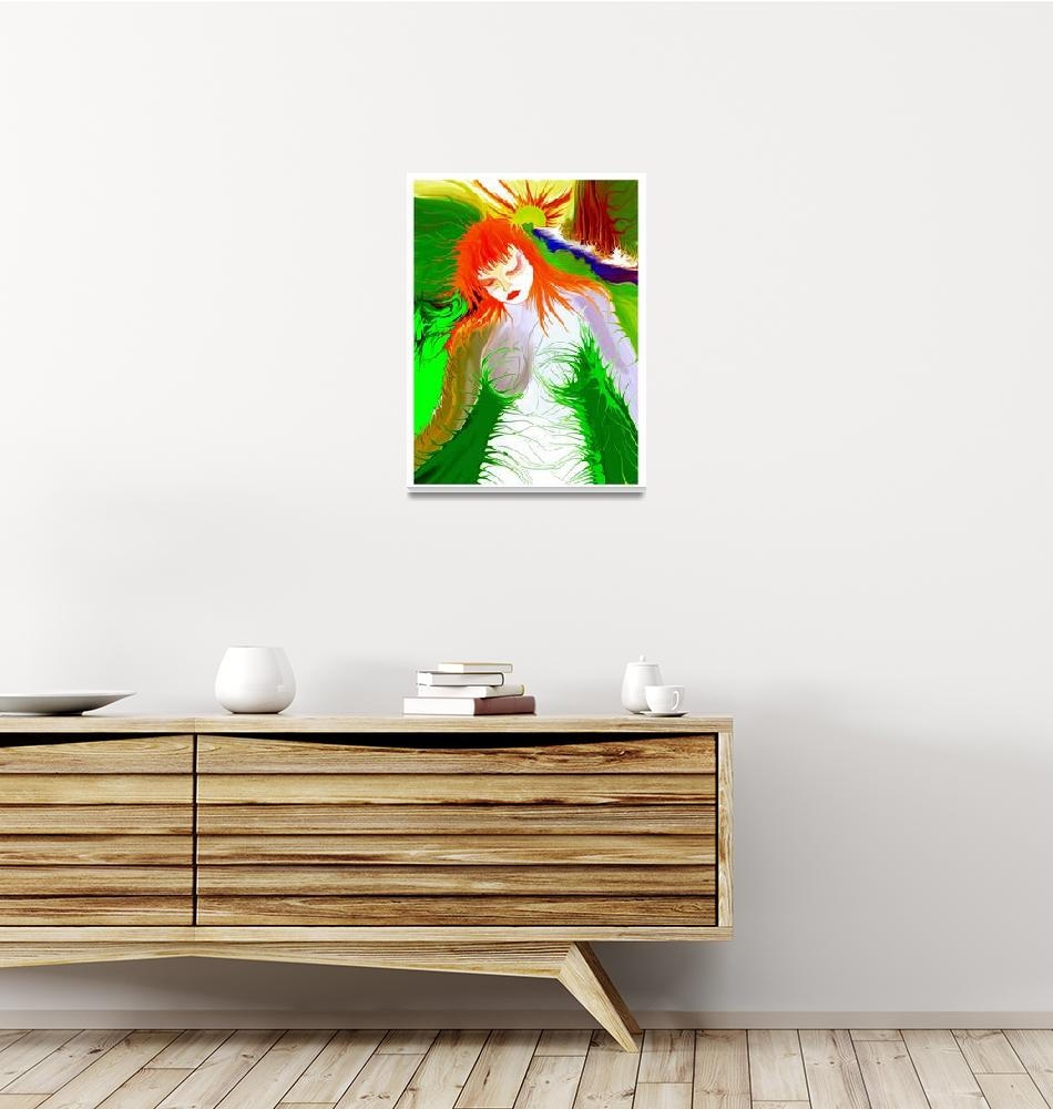 """""""Green Girl Red!""""  (2003) by RitchardMifsud"""