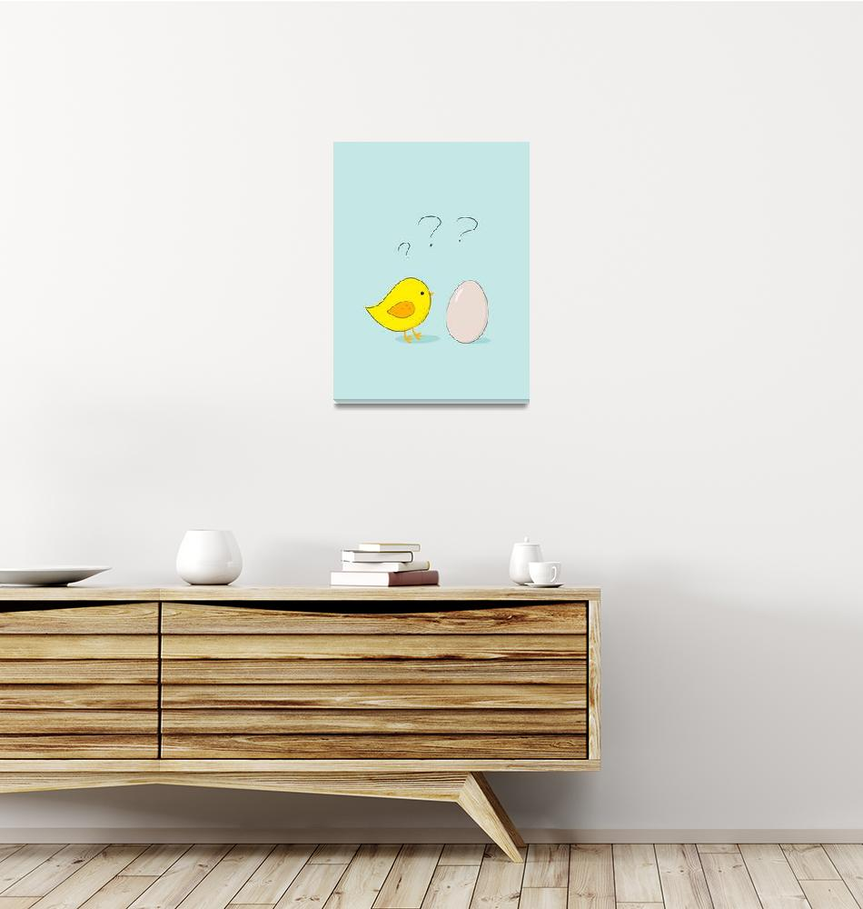 """""""The chicken or the egg""""  (2014) by eDrawings38"""