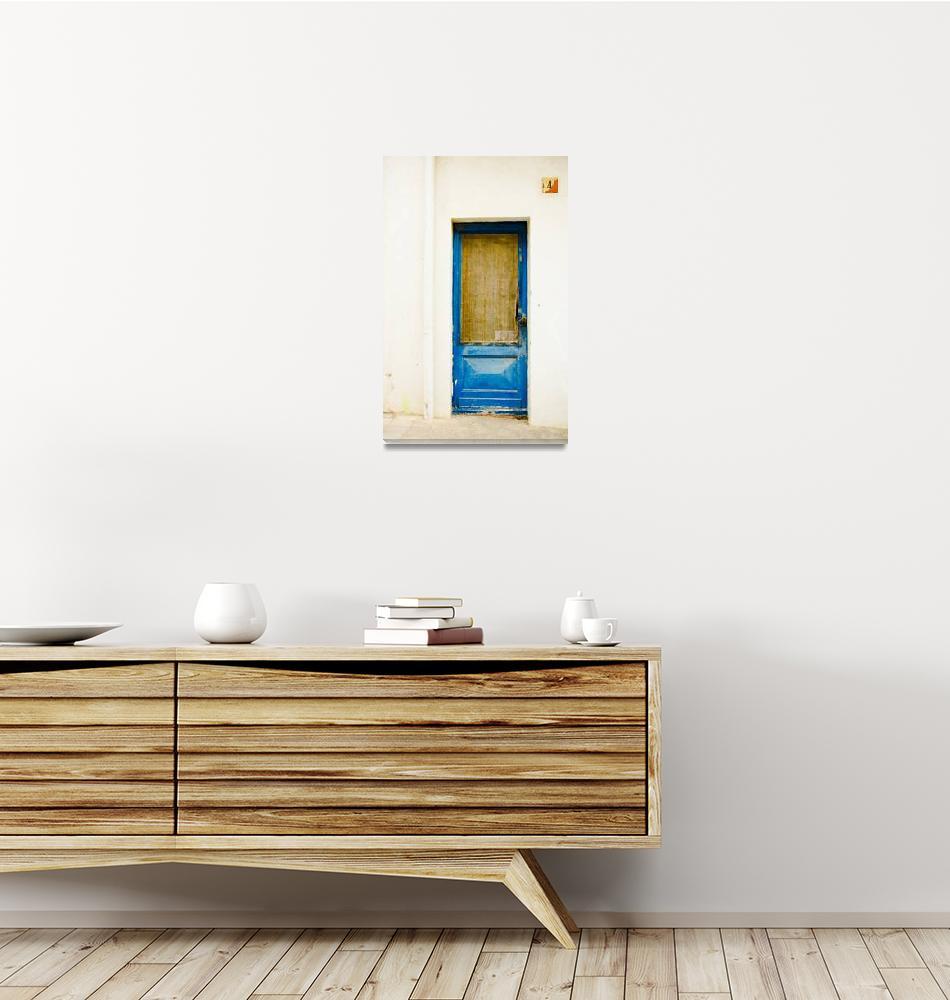 """""""Rustic Shade Blue Door of Spain""""  (2012) by calvinhanson"""