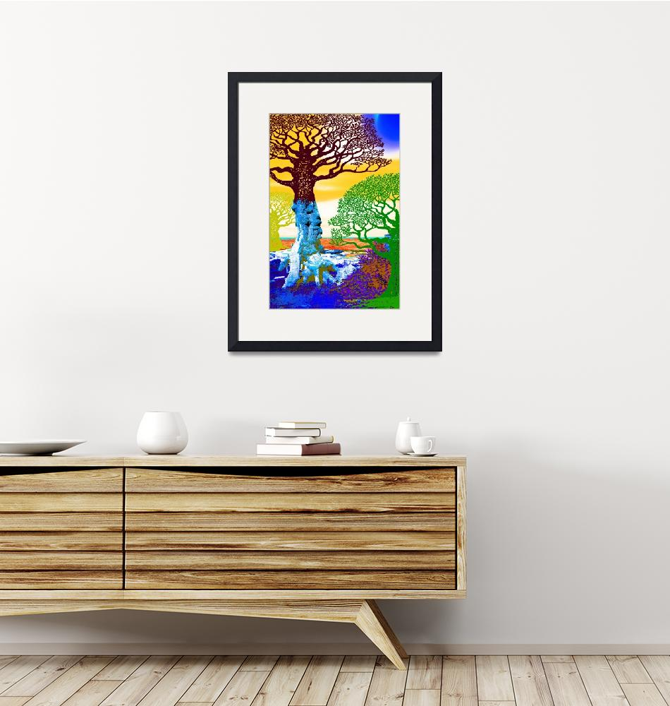 """""""If A Tree Falls In Sicily Color 2"""" (2017) by RubinoFineArt"""