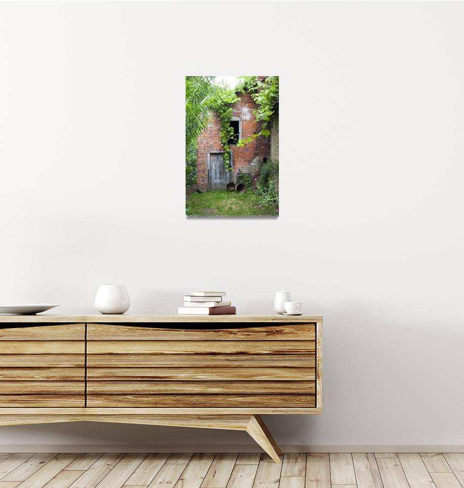 """Tudor garden brick shed""  (2016) by daveturnerphotography"