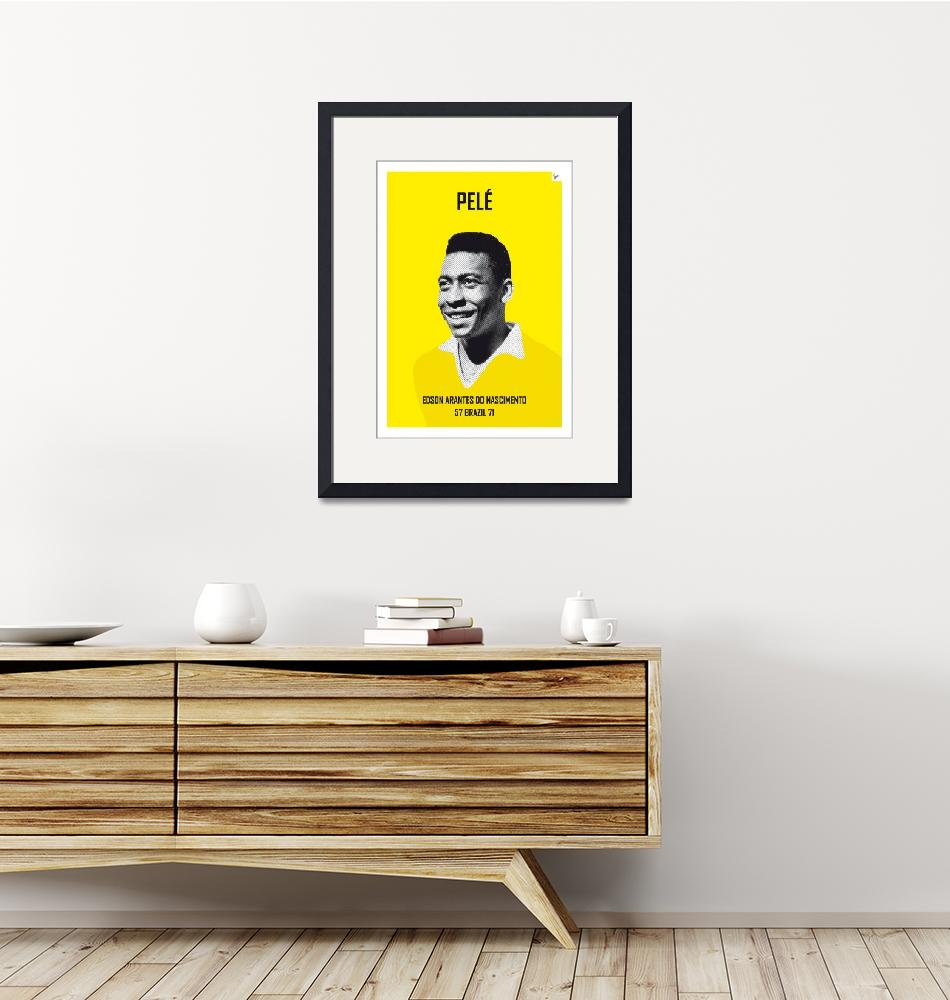 """""""My PELE soccer legend poster""""  by Chungkong"""