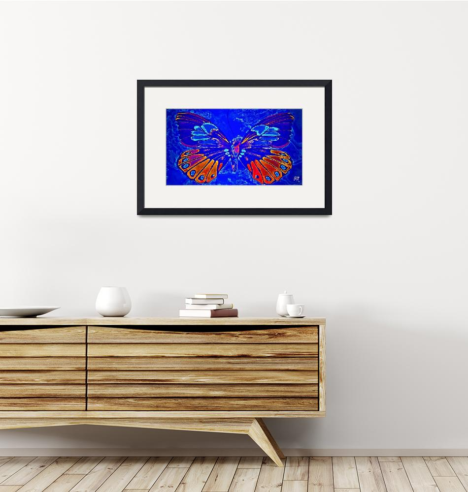 """""""Abstract Butterfly Art 13""""  (2016) by positivebusinessdesigns"""