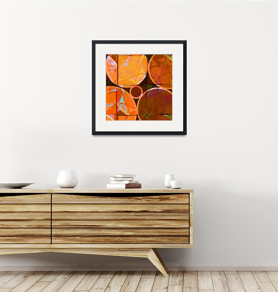 """""""Linked Circles (Orange Hues)""""  (2008) by piecesofrob"""