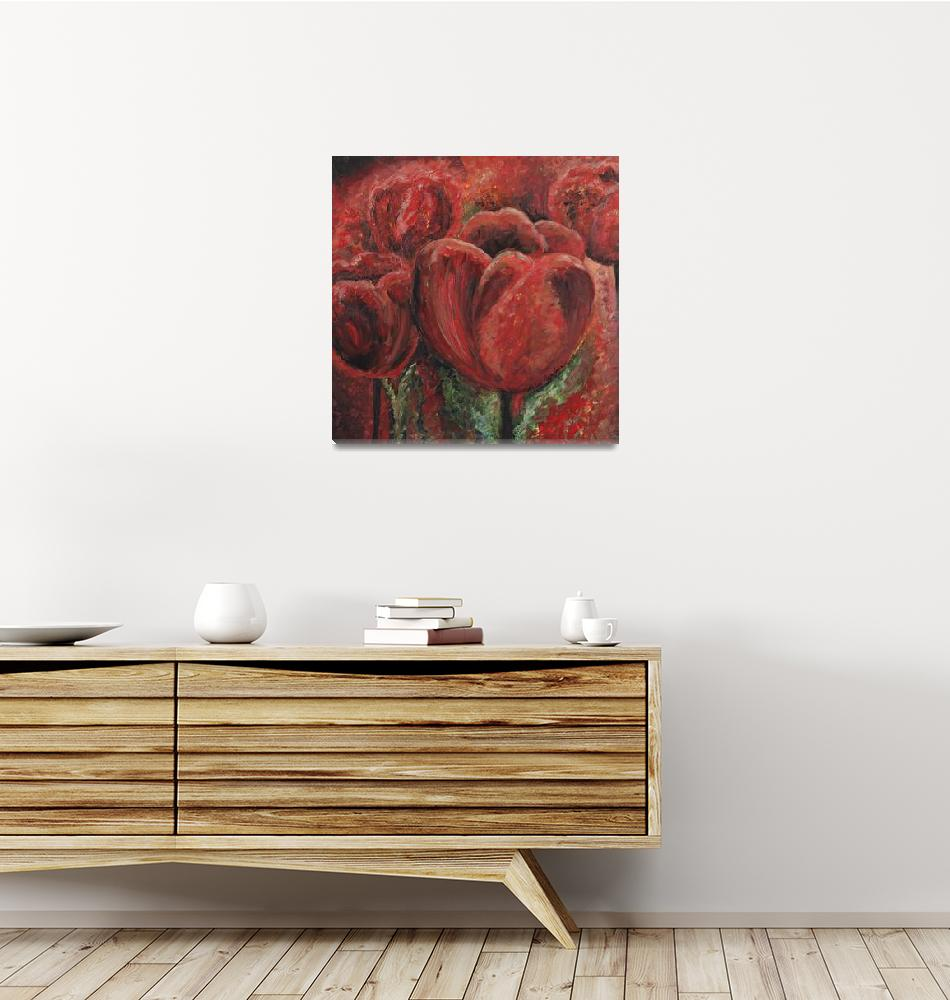 """Tulips in Red""  (2006) by nadinerippelmeyer"