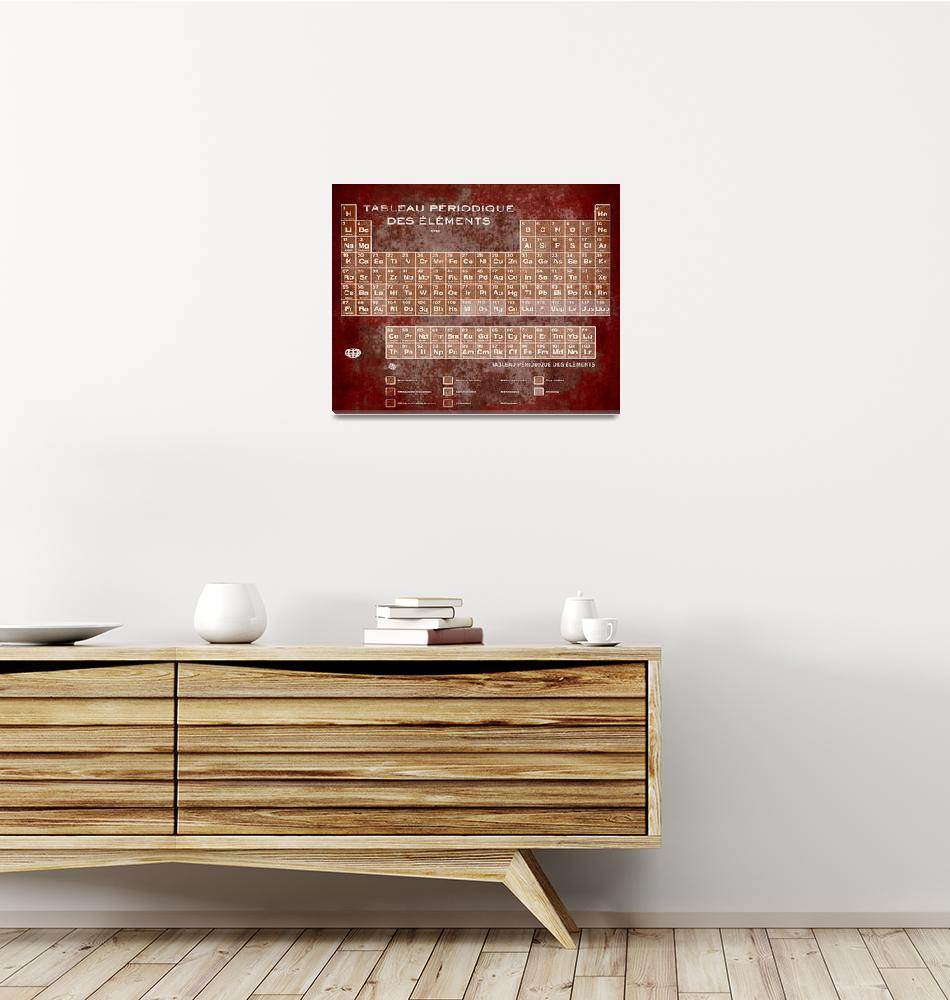 """""""Tableau Periodiques Periodic Table Of The Elements""""  (2018) by RubinoFineArt"""